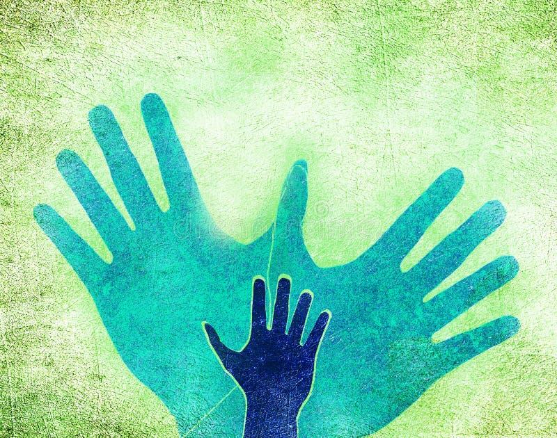3 руки и одна нырнули бесплатная иллюстрация