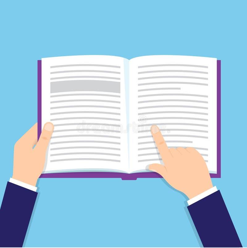руки книги держа открытыми запишите пути иллюстрации клиппирования высокие читая разрешение иллюстрация вектора