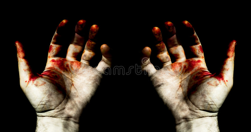 руки крови стоковая фотография