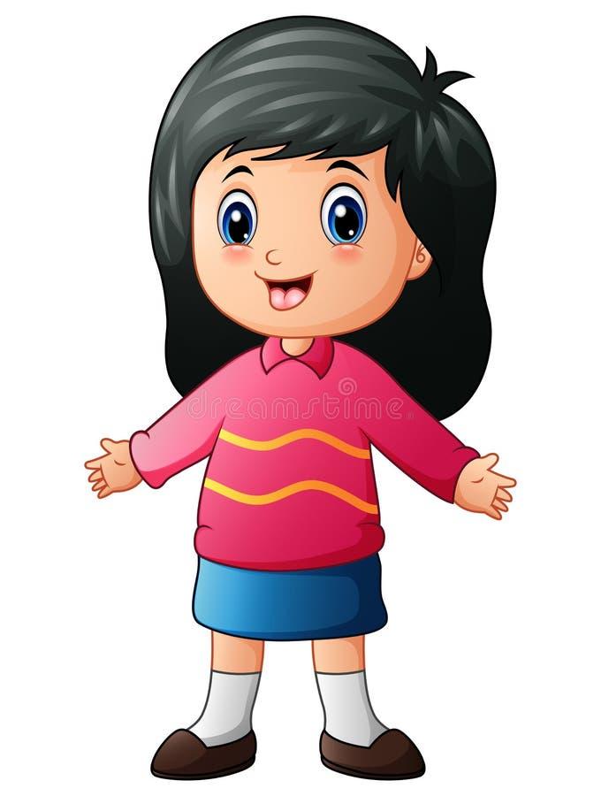 Руки маленькой девочки шаржа развевая бесплатная иллюстрация