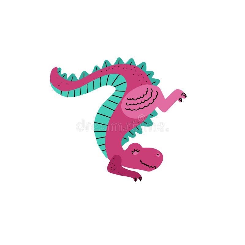 Руки мультфильма вектора положение динозавра милой вычерченное на передних лапках замыкает вверх tyrannosaurus Иллюстрация вектор бесплатная иллюстрация