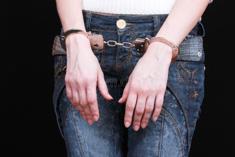 руки наручников стоковое изображение rf