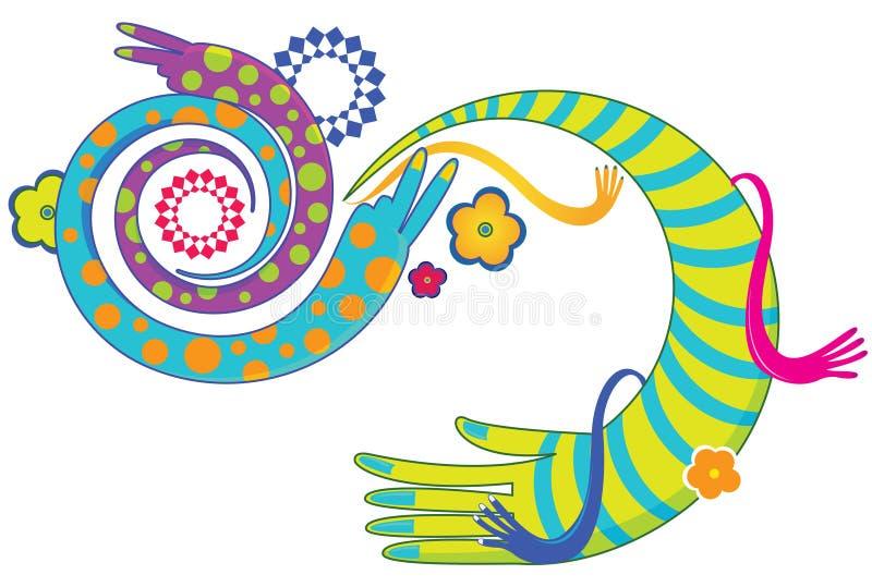 Руки орнамента иллюстрация штока