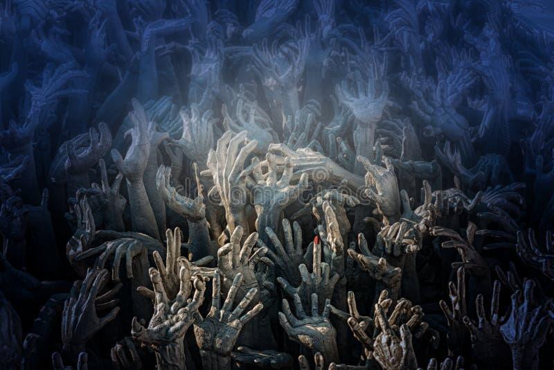 Руки достигают вверх от организованной преступности стоковое фото rf
