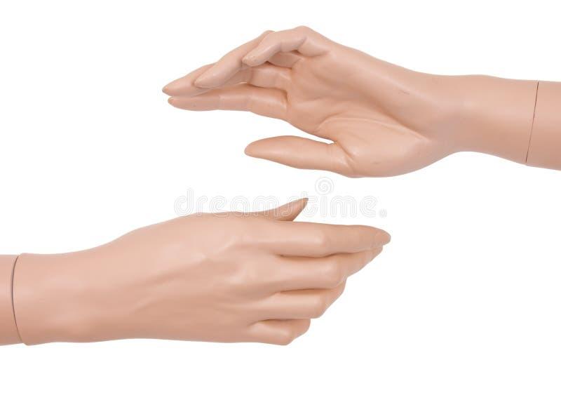 Руки пластичного манекена стоковое фото