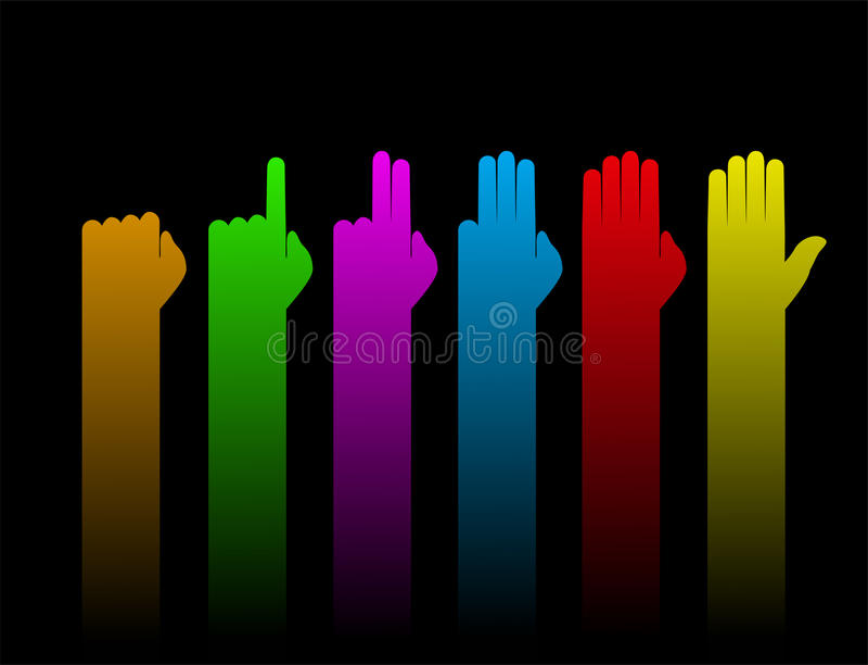Руки подсчитывая символ иллюстрация штока