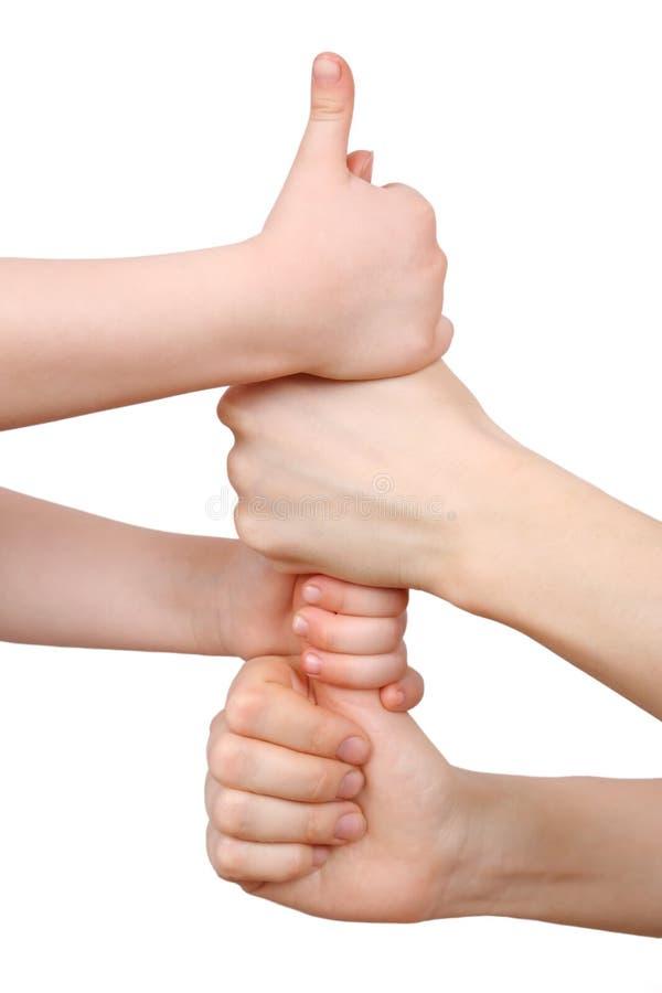 руки приятельства стоковое изображение