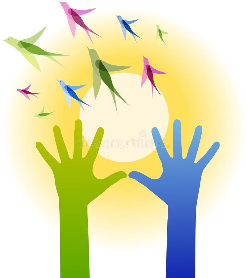 руки птиц бесплатная иллюстрация