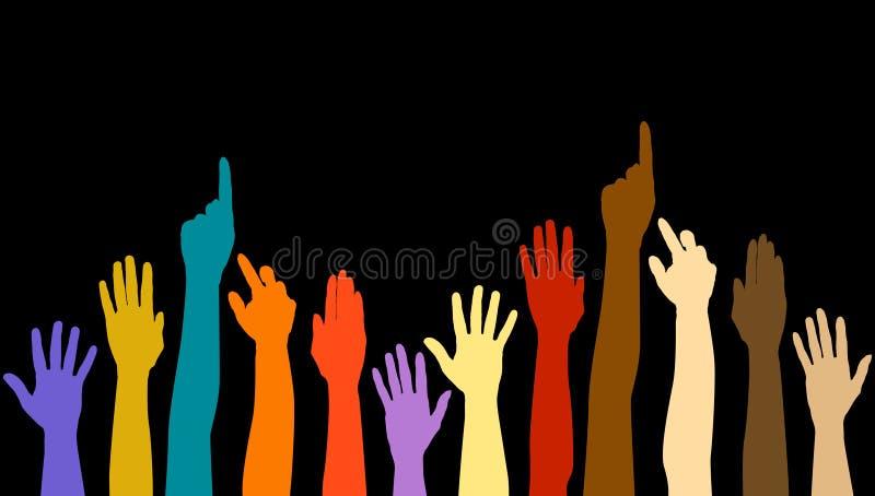 руки разнообразности иллюстрация вектора