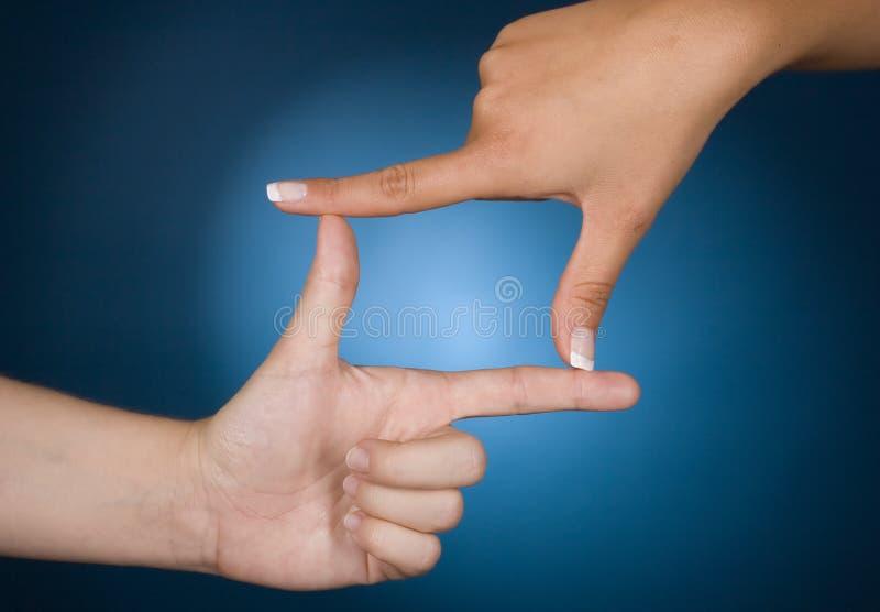 руки рамки стоковые изображения rf