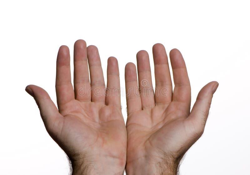 руки раскрывают Стоковые Изображения RF