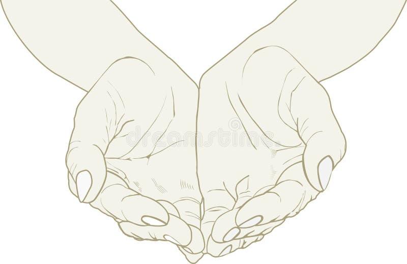 руки раскрывают