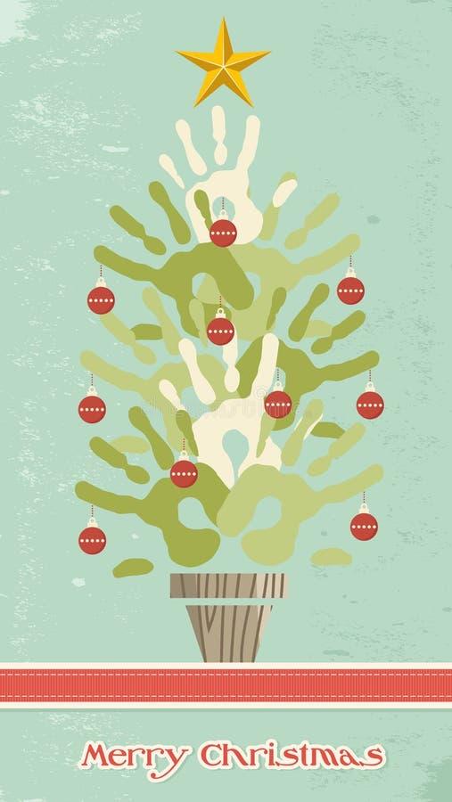 Руки рождественской елки разнообразности бесплатная иллюстрация
