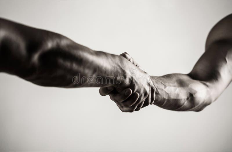 2 руки, рука, рука помощи друга Рукопожатие, оружия Дружелюбное рукопожатие, приветствие друзей Сыгранность и стоковые изображения rf
