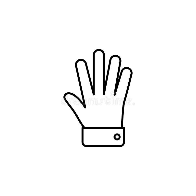 Руки, рукоплескание, значок плана приветственного восклицания Элемент простого значка для вебсайтов, веб-дизайна, передвижного ap иллюстрация вектора