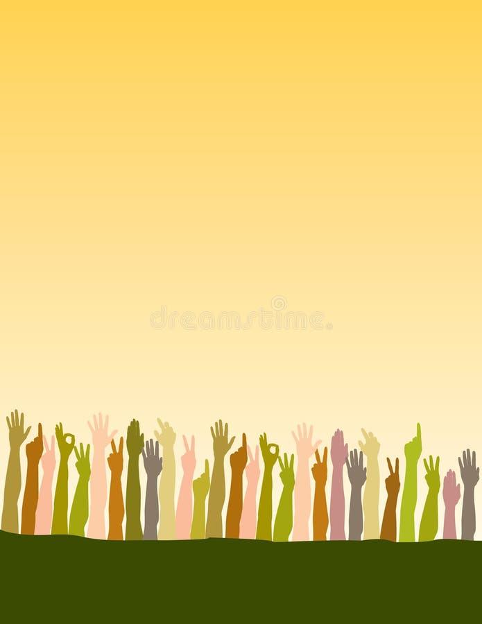 руки рукояток подняли бесплатная иллюстрация