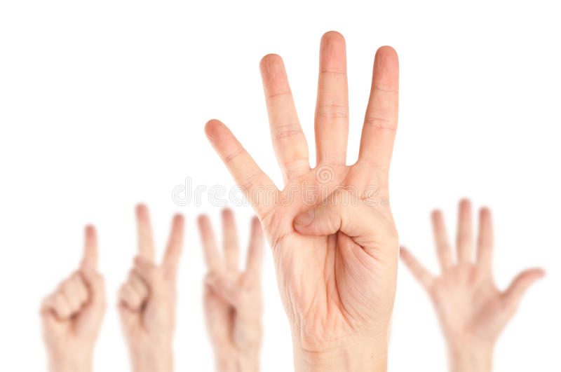руки собрания стоковое фото