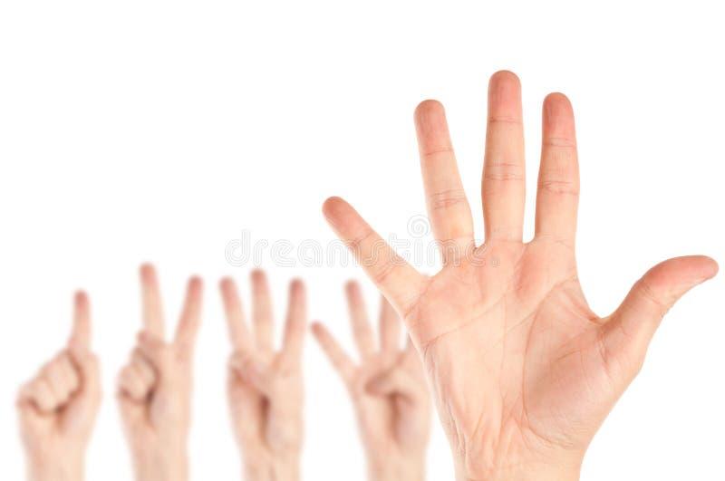 руки собрания стоковая фотография