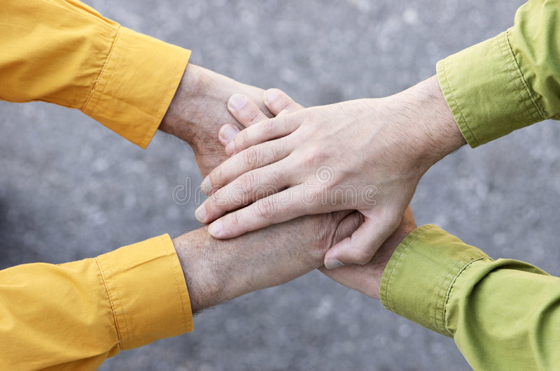 руки соединили стоковые фото
