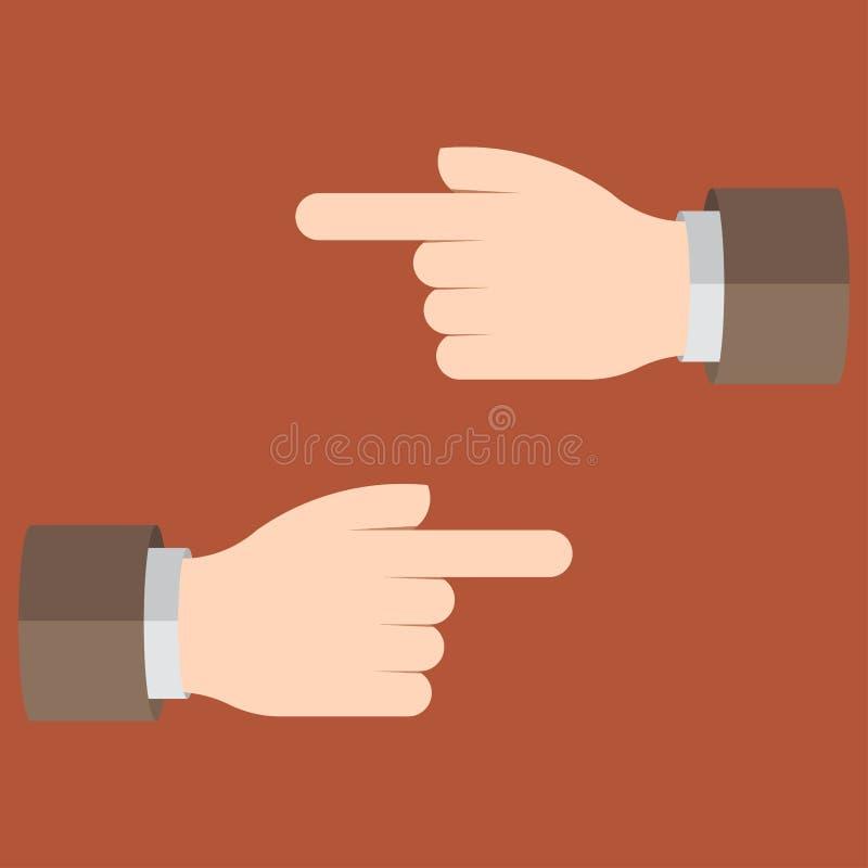 Руки с указательным пальцем, левый и правый, индикация th бесплатная иллюстрация