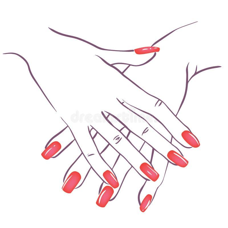 Руки с nailpolish бесплатная иллюстрация