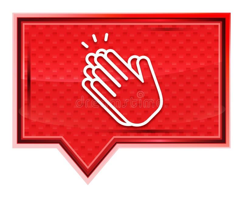 Руки хлопают кнопка знамени значка туманная розовая розовая бесплатная иллюстрация
