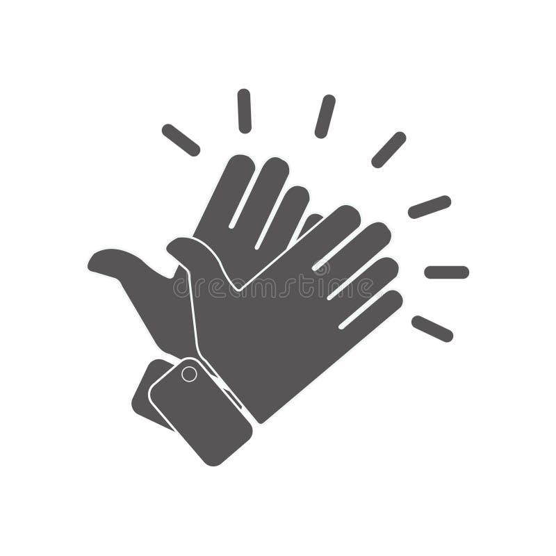 Руки хлопая значки иллюстрация штока