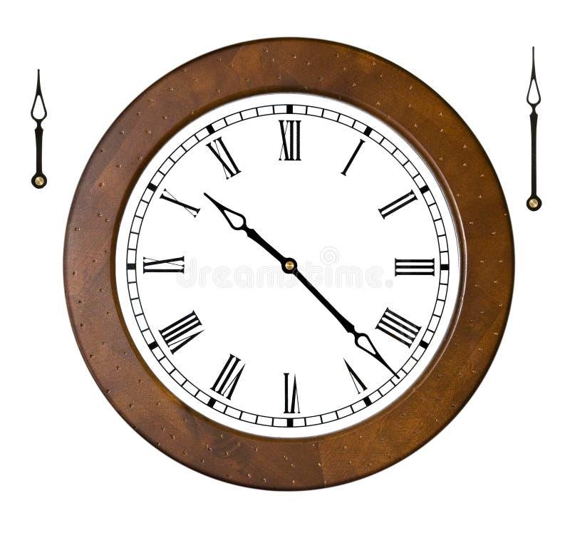руки часов отделяются стоковое изображение