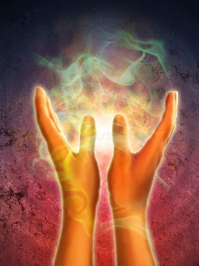 руки энергии иллюстрация вектора