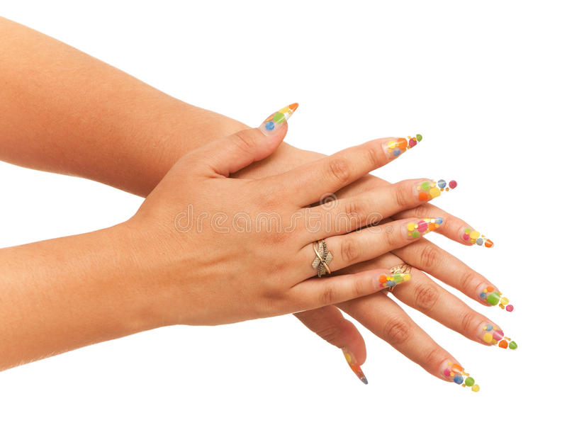 руки 2 женщины стоковая фотография