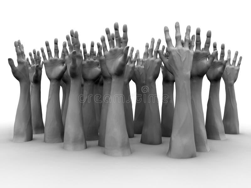 руки иллюстрация вектора