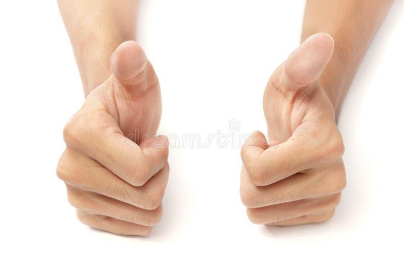 руки thumbs 2 вверх по w стоковое фото rf