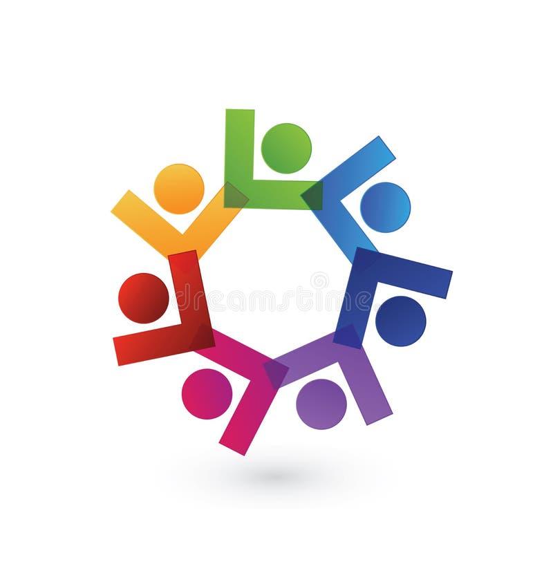 Руководители бизнес-группы, сыгранность людей, значок логотипа вектора иллюстрация штока
