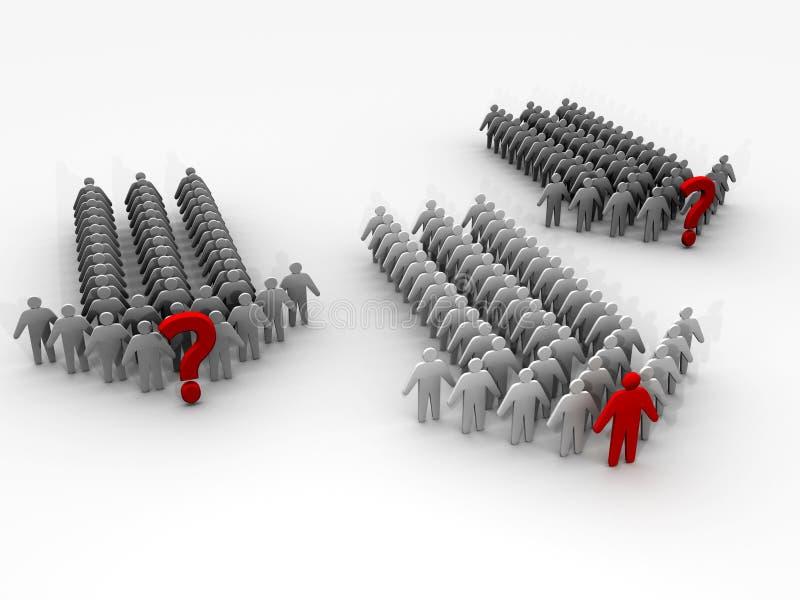 руководители руководителя 3d объениняются в команду команды бесплатная иллюстрация