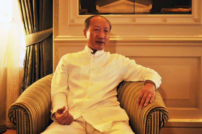 Руководители Chen Feng группы HNA, китайский миллиардер на гостинице Dolder в богачах ¼ ZÃ стоковое изображение