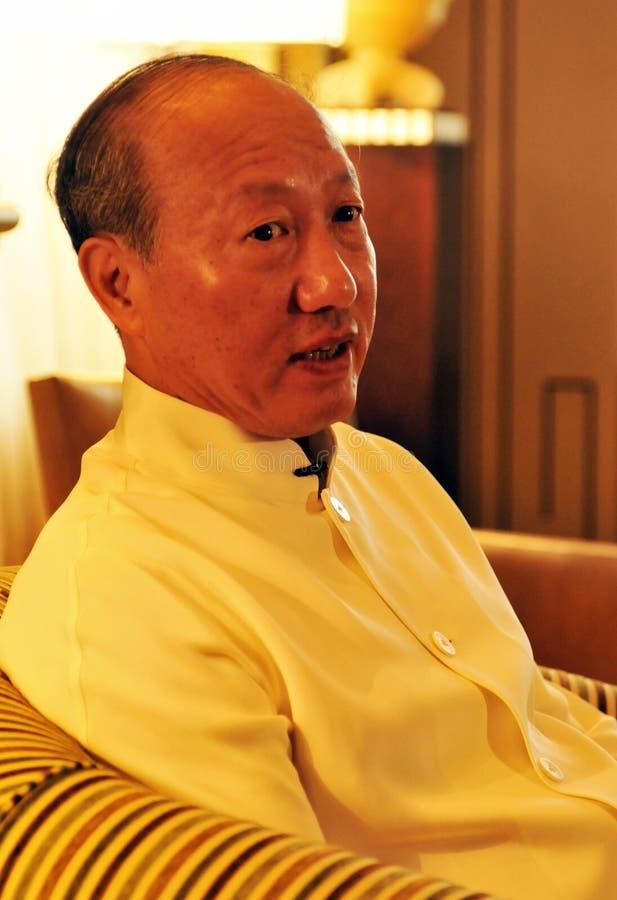 Руководители Chen Feng группы HNA, китайский миллиардер на гостинице Dolder в богачах ¼ ZÃ стоковая фотография rf