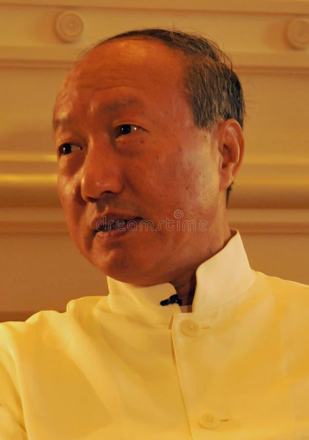 Руководители Chen Feng группы HNA, китайский миллиардер на гостинице Dolder в богачах ¼ ZÃ стоковое фото rf