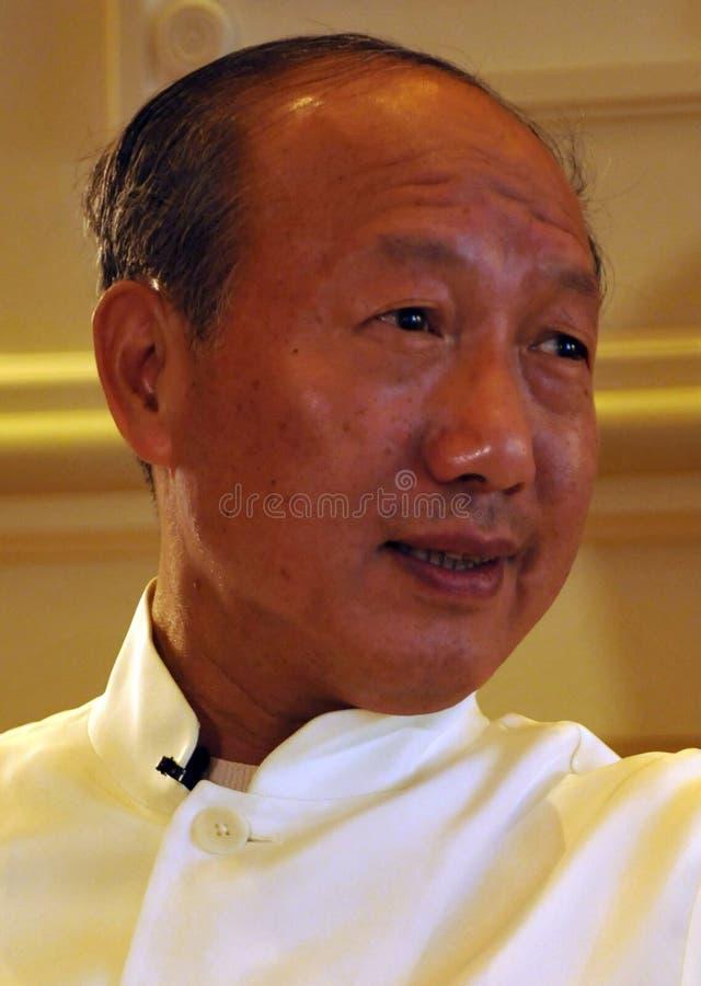 Руководители Chen Feng группы HNA, китайский миллиардер, стоковая фотография