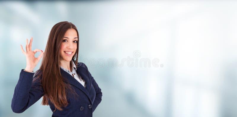 Руководитель бизнеса или женщина с выражением успеха стоковые изображения