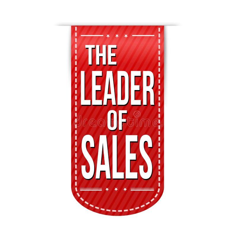 Руководитель дизайна знамени продаж иллюстрация вектора