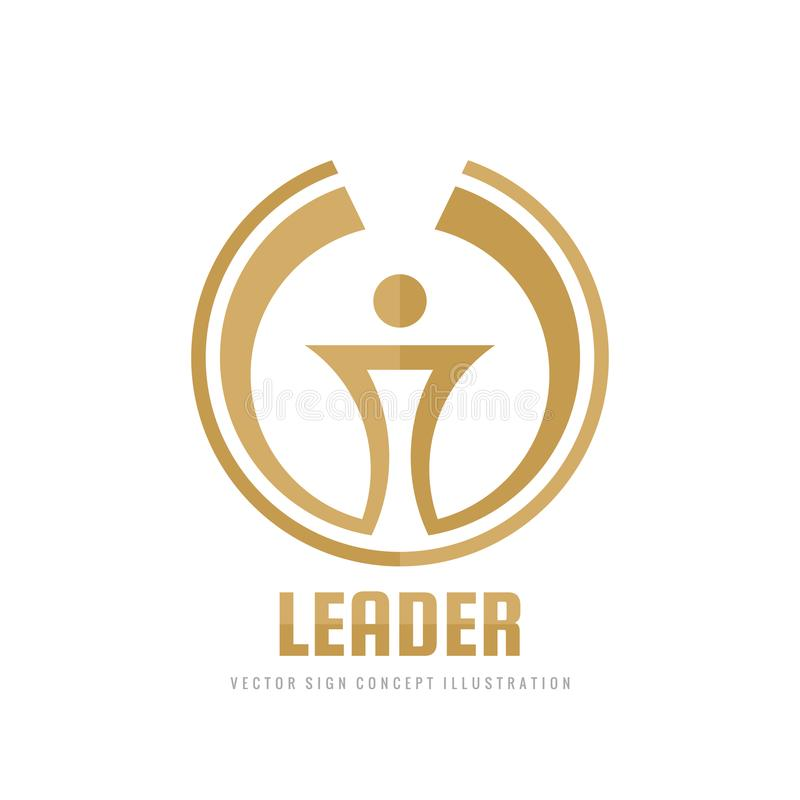 Руководитель - иллюстрация концепции шаблона логотипа дела вектора Знак абстрактного факела творческий Символ чашки победителя на бесплатная иллюстрация
