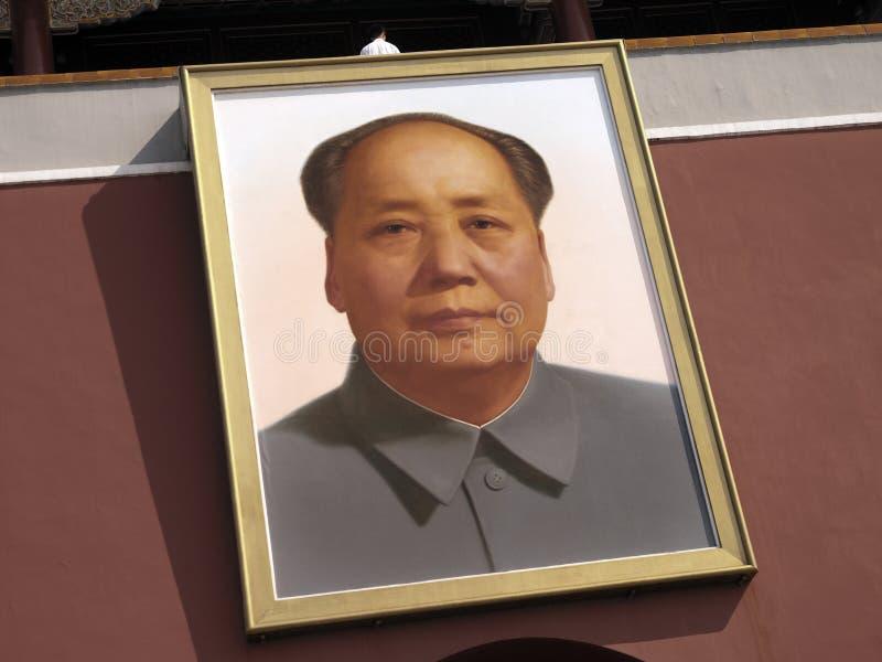 Руководитель Mao - строб небесного мира - Пекин стоковые изображения rf