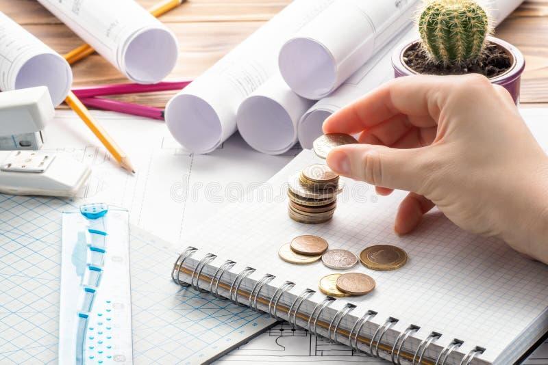 Руководство проектом дизайна оплаты цены концепции дела финансов поворотливое стоковые изображения