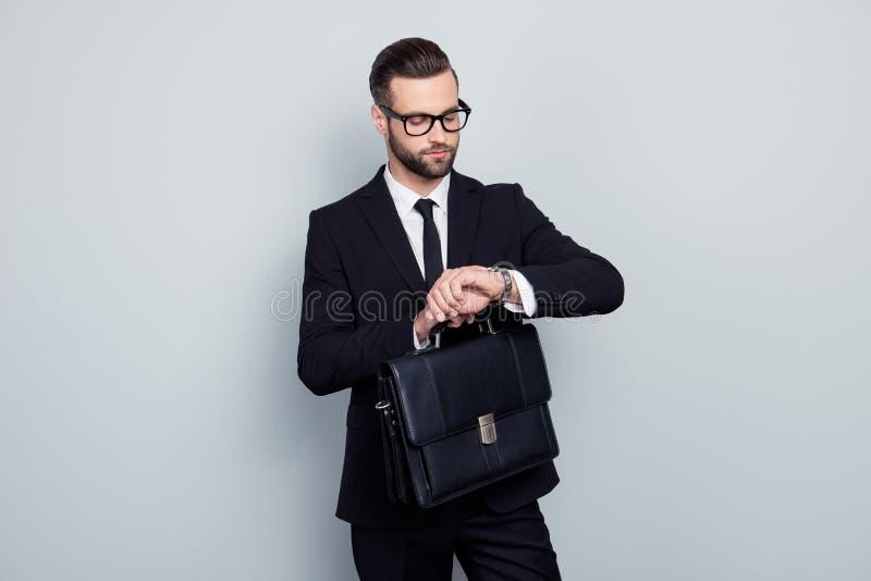 Руководство стиля людей политика юриста сумки занятости исполнительное стоковые фотографии rf