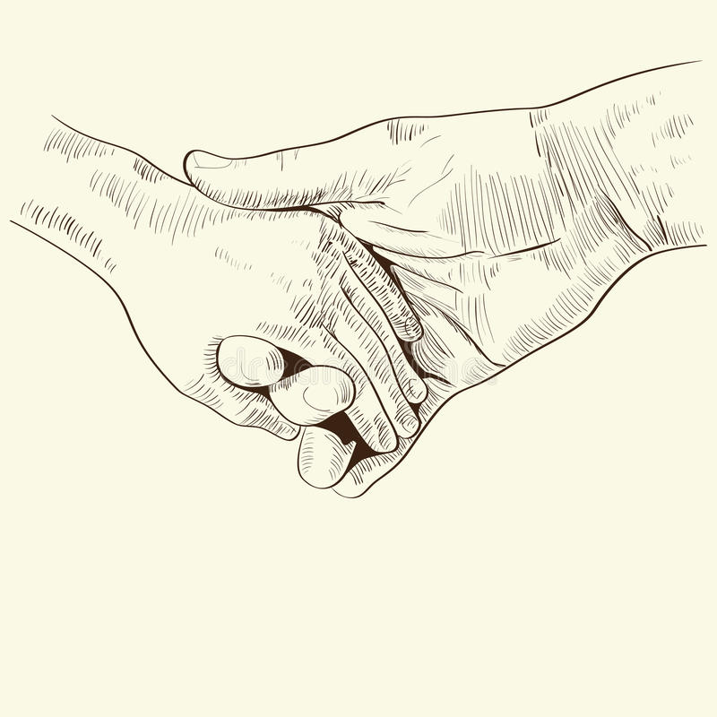 Руководство руки родителей его ребенок бесплатная иллюстрация