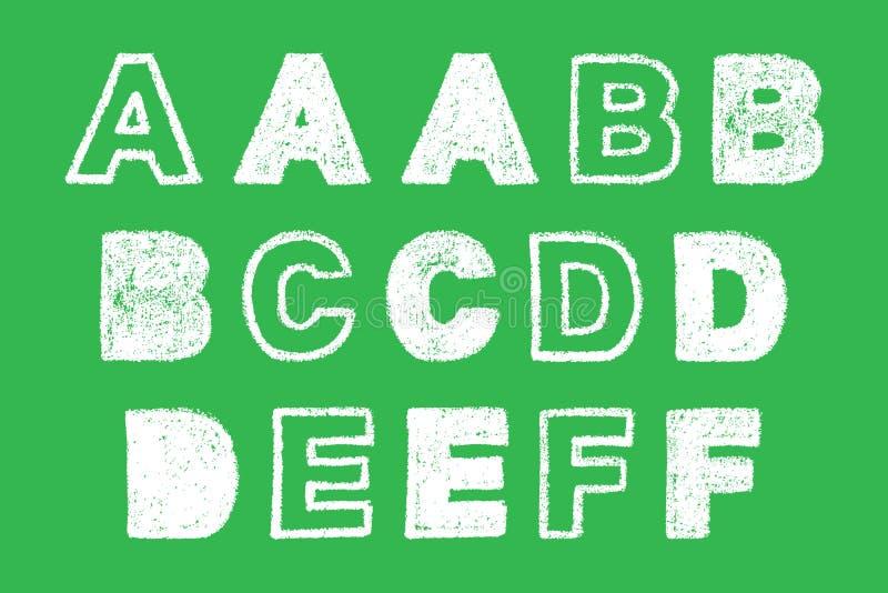 Рукописное белое смелейшее письмо мела на зеленой предпосылке иллюстрация вектора