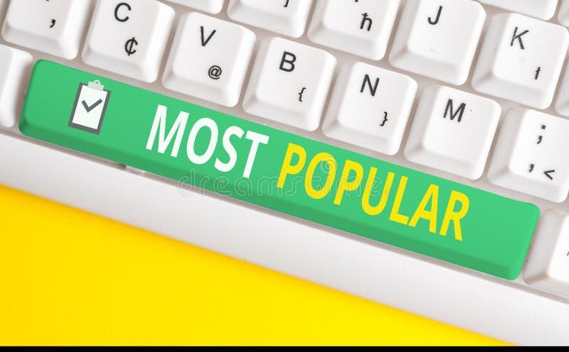 Рукописный текст пишется наиболее популярно Понятие, означающее 'Любимые', которых радует большинство показов в обществе стоковое изображение rf