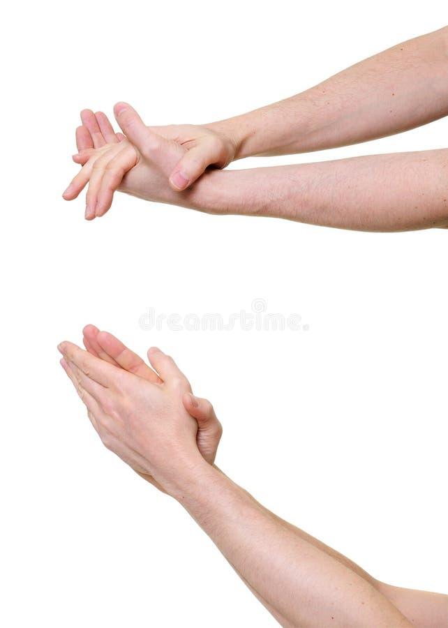 рукоплескание давая людей 2 рук стоковые фото