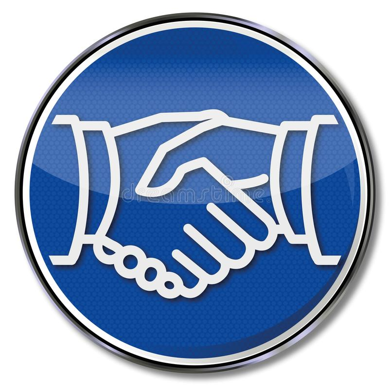 Рукопожатие и согласование бесплатная иллюстрация