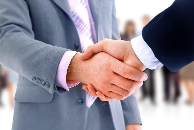 Рукопожатие над делом стоковое изображение rf